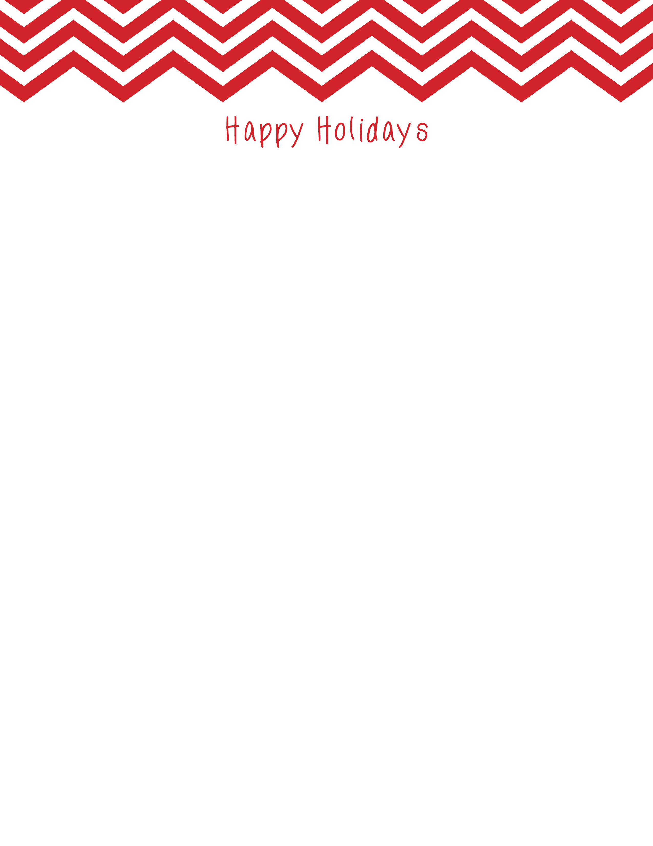 Chevron Holiday Stationery 8 1/2″ x 11″ 50 sheets | Donahue Paper ...