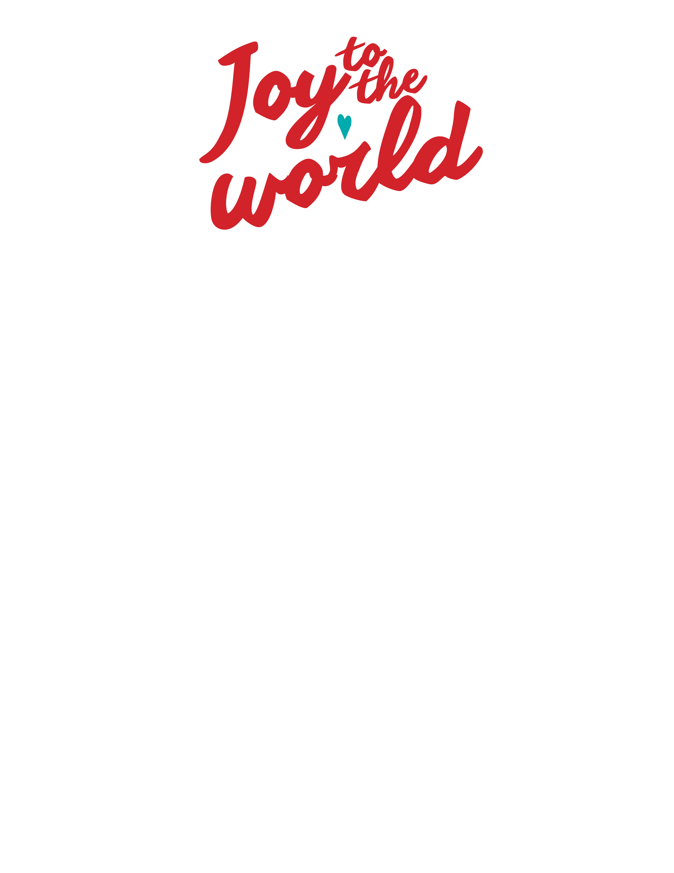 Joy to the World Holiday Stationery 8 1/2″ x 11″ 50 sheets ...