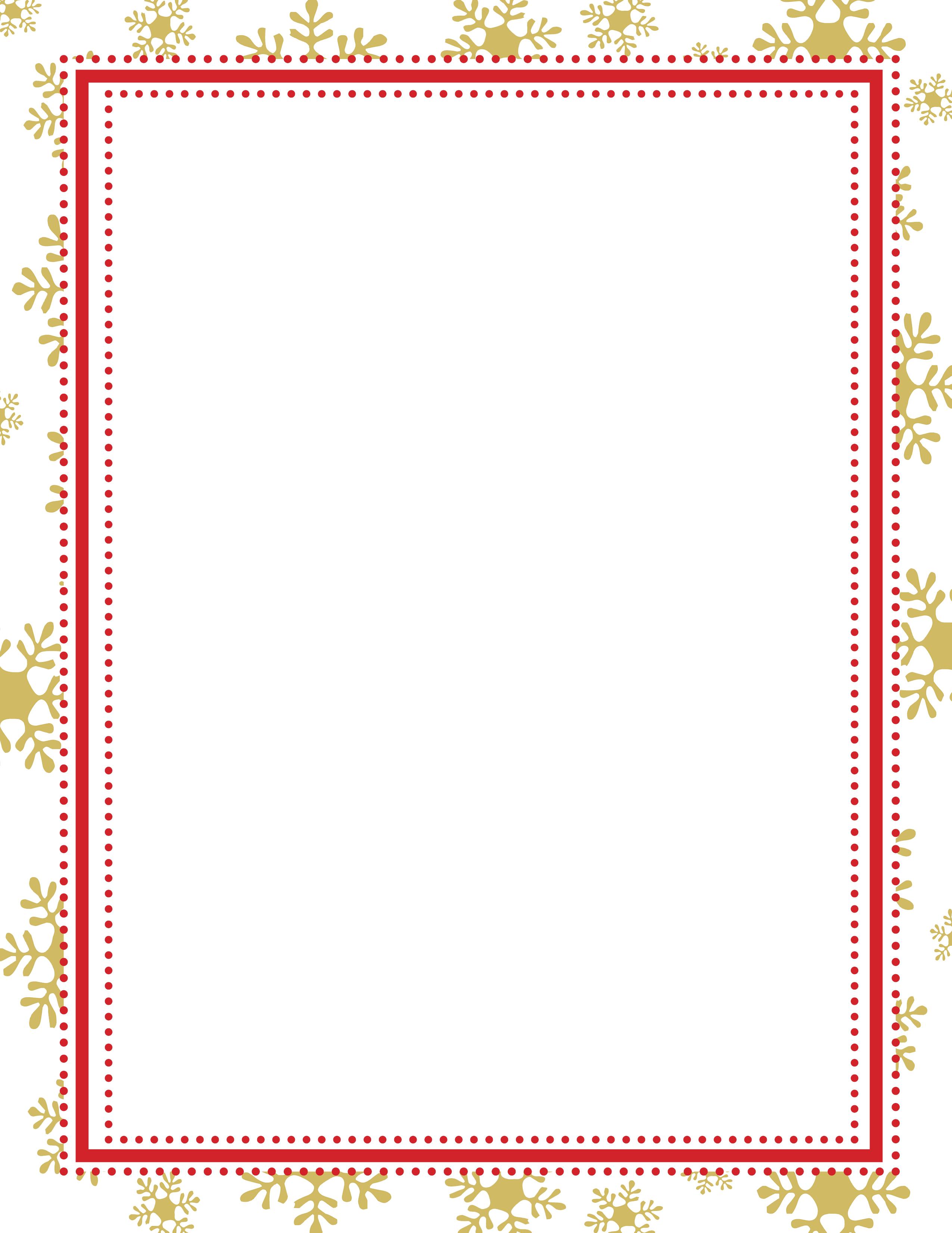 Snowflake Border Holiday Stationery 8 1/2″ x 11″ 50 sheets ...