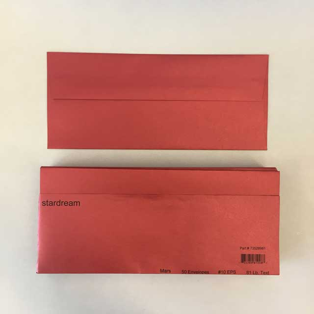 metallic red 10 holiday envelopes 4 1 8 x 9 1 2 50 pack
