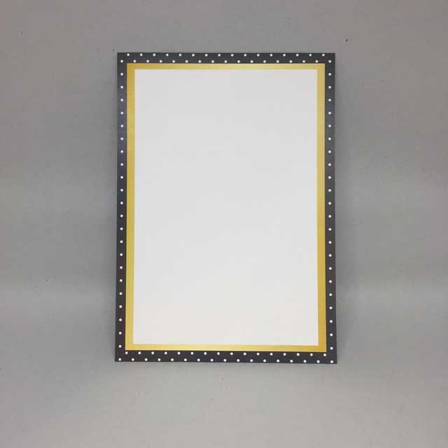 black and gold border holiday flat card invitation 5 x 7 10 pack donahue paper emporium