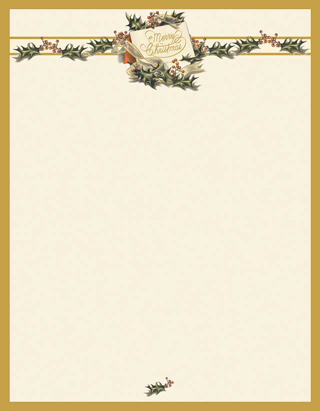 vintage christmas holiday stationery 80 sheets donahue paper