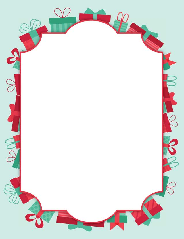 Christmas Stationery.Christmas Presents Stationery 50 Sheets